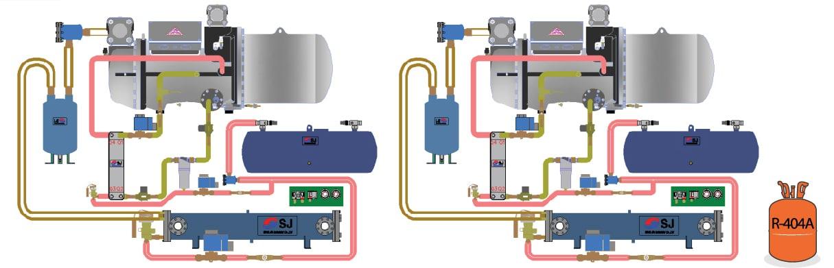 Hệ thống Chiller Sungjin WLAF hay hệ thống điều hòa trung tâm Sungjin WLAF là hệ thống làm mát tòa nhà bằng gió. Hệ thống chiller điều hòa trung tâm Sungjin