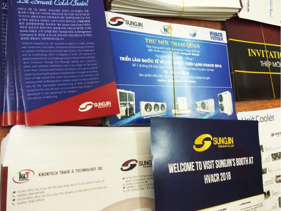 Kikentech tiến hành gửi thư mời quý khách tham quan triển lãm giới thiệu sản phẩm Sungjin HVACR 2018 tại Hà Nội tới các công ty, doanh nghiệp khắp đất nước. Tham quan triển lãm giới thiệu sản phẩm Sungjin, tham dự hội thảo giới thiệu sản phẩm Sungjin liên hệ 0944.899.886