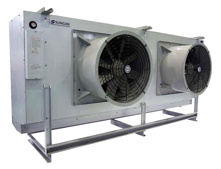 Cụm dàn lạnh công nghiệp chiếm 1/3 giá trị khi lắp đặt kho lạnh công nghiệp, kho lạnh bảo quản. Mua dàn lạnh giá rẻ, dàn lạnh công nghiệp giá rẻ chất lượng
