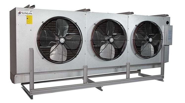 Dàn lạnh công nghiệp cỡ lớn SUK-P quạt hướng trục không có ống bên ngoài, dàn lạnh kho đông SUK-P, dàn lạnh sungjin suk-p