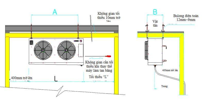Hướng dẫn cách lắp đặt dàn lạnh công nghiệp Sungjin Hàn Quốc chi tiết cho kho lạnh. Cách lắp đặt dàn lạnh, hướng dẫn lắp đặt dàn lạnh. Lắp dàn lạnh thế nào?