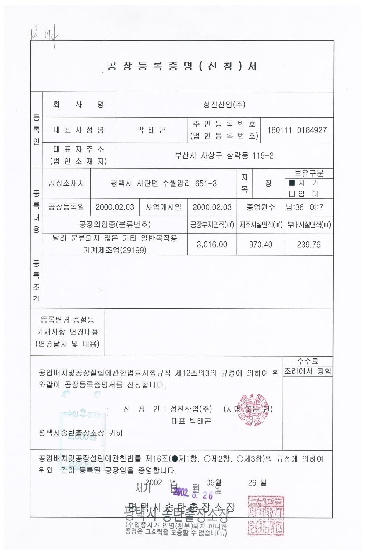 Sungjin là thương hiệu sản xuất máy móc công nghiệp lạnh nổi tiếng tại Hàn Quốc. Một số hình ảnh giấy chứng nhận mà công ty Sungjin cung cấp cho Kikentech