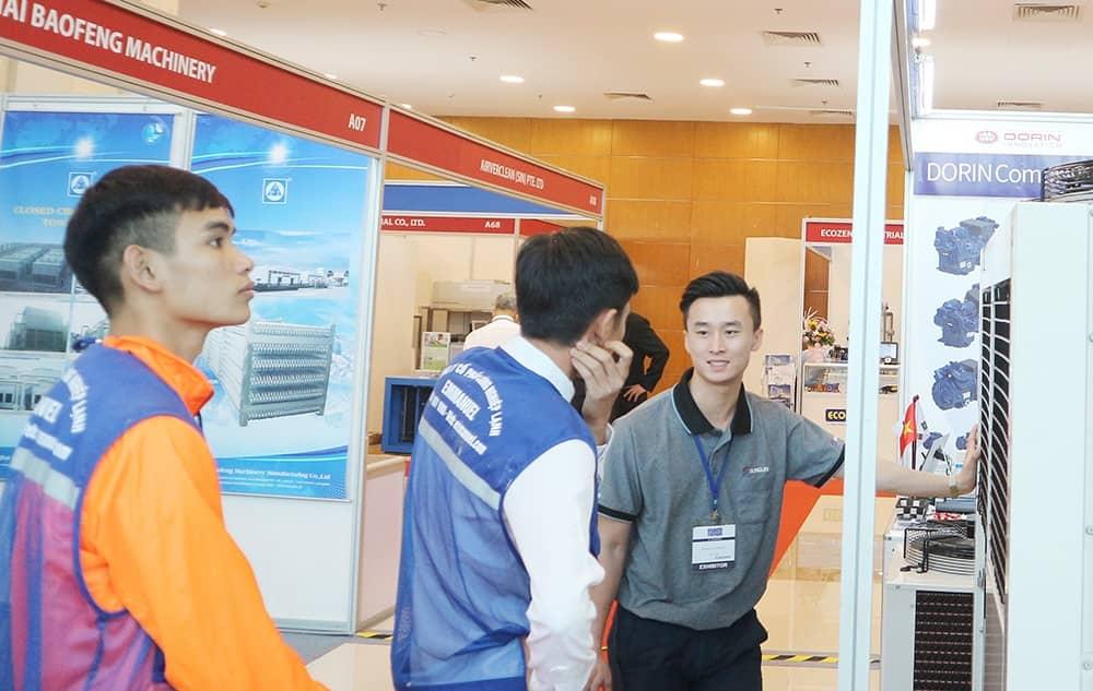 Triển lãm giới thiệu sản phẩm Sungjin HVACR 2018 bước sang ngày thứ 2. Triển lãm Sungjin giới thiệu các sản phẩm chính của công ty Sungjin - Kikentech