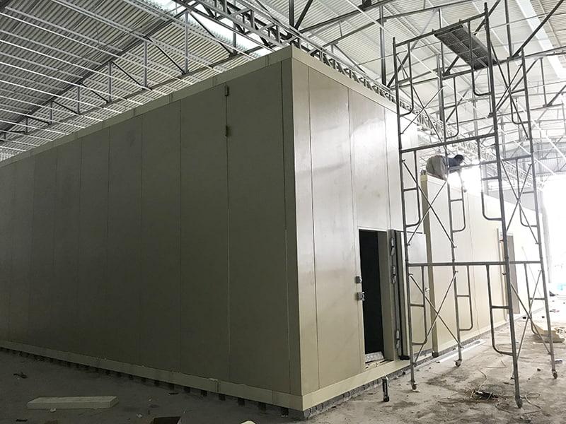 Hoàn thiện vỏ kho lạnh công nghiệp dự án Hòa Lạc - Hà Nội